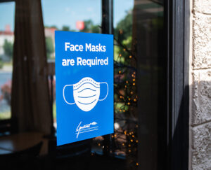 Face Masks Required Window Sign