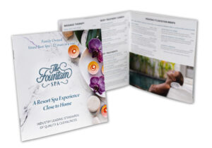 Fountain Spa Booklet printed by Creative Influence