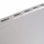 Example of Custom Printed Index Tabs