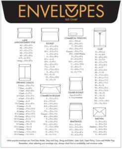 Envelope Size & Type Chart